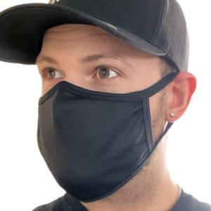 Couvre-visage lavable en tissu polyester / coton (Doublé)