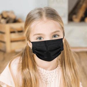 POUR ENFANT - Boîte de 50 Masques jetables NOIR, ROSE ou MAUVE
